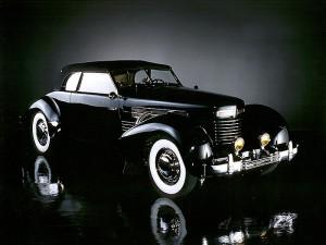 1937 Cord SC Phaeton Black