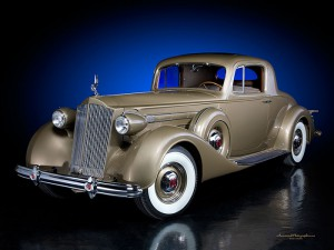 1937 Packard V12 Coupe Gold