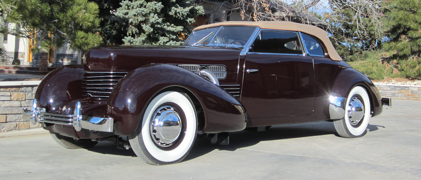 1937 Cord SC Phaeton Maroon
