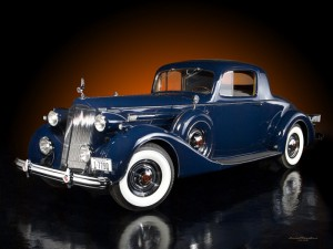 1937 Packard V12 Coupe Blue